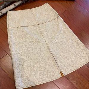 Danier leather crackled skirt size 4